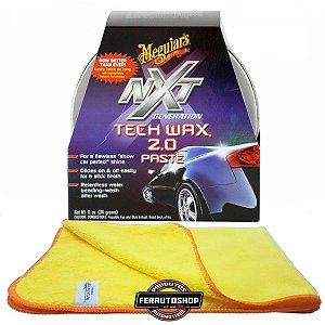 Kit Cera Nxt tech Wax 2.0 311g Meguiars + Pano Microfibra 40x60