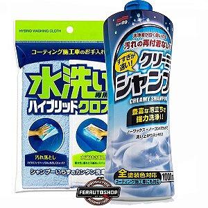 Kit Hobby Shampoo Neutro Creamy Type 1000ml + Toalha Hibrida 30x40cm - Soft99