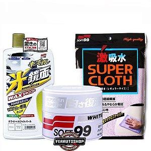 Kit Lavagem e Enceramento Premium Para Cores Claras - Soft99