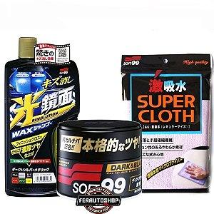 Kit Lavagem e Enceramento Premium Para Cores Escuras - Soft99