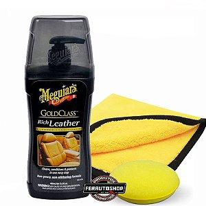 Super Kit Limpeza e Hidratação de Couro Gold Class Rich Leather 400ML - Meguiars