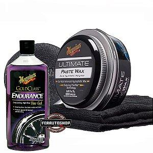 kit Cera Ultimate Paste Wax 311g + Endurance Tire Dressing Gel 473ml - Meguiars