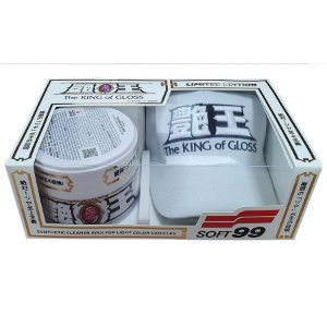 Cera Sintética The King Of Gloss White Cleaner 320g - Soft99 Especial Edition