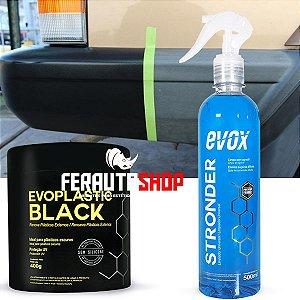 Kit Exclusivo para Limpeza e Revitalização de Plásticos Externos Pretos - Evox