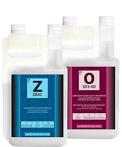 Kit Bactericida para Limpeza Interna com Zbac + Oxy2 1,2l - Easytech