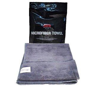 Toalha de Microfibra Cinza Super Lustro 40cm x 60cm 400g - SGCB