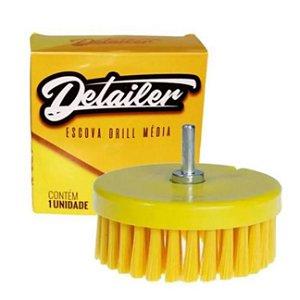 Escova para Limpeza de Estofados Macia - Politriz e Furadeira + Adaptador