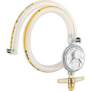 Regulador de gás blindado sem manômetro com mangueira