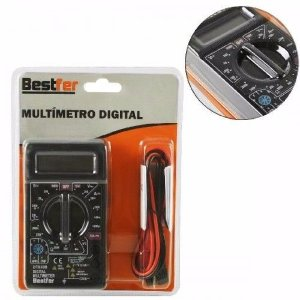 Multímetro Digital Profissional Cabo Multi Teste Portátil