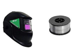 Mascara De Solda Automática e 1 kg de Arame De Solda Sem Gás