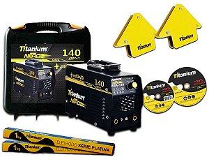 Maquina Solda Inversora 140a Nitro Bivolt Titanium +Brindes