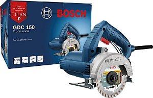 Serra Mármore 125mm GDC 150 Titan 1500w 127v Bosch