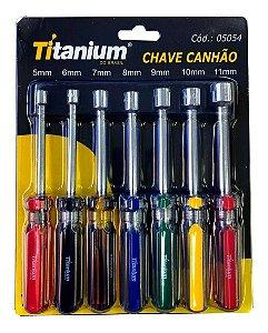 Jogo De Chaves Canhão Com 7 Peças - Titanium-5054 Promoção
