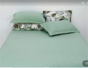 Conjunto lençol flores de algodão