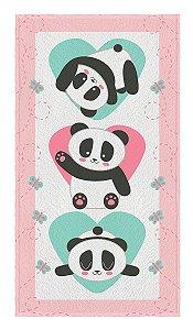 Toalha felpuda estampada panda