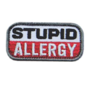 Patch Bordado Stupio Allergy