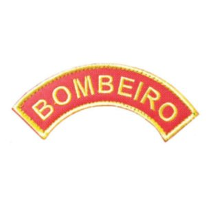 Patch Bordado Tarjeta Bombeiro