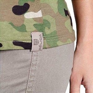 Camiseta Feminina Bélica Soldier Camuflada Multicam