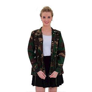 Jaqueta Feminina Alícia Camuflada Woodland Treme Terra- Promoção