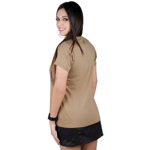 Camiseta Feminina Bélica Soldier Coyote