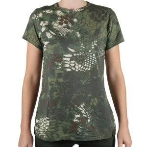 Camiseta Feminina Bélica Soldier Camuflada Mandrak