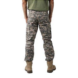 Calça Masculina Combat Camuflada Digital Areia Bélica