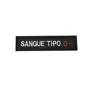 Patch Bordado Tipo Sanguíneo O-  1.341.111V