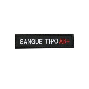 Patch Bordado Tipo Sanguíneo AB+ 1.341.112V