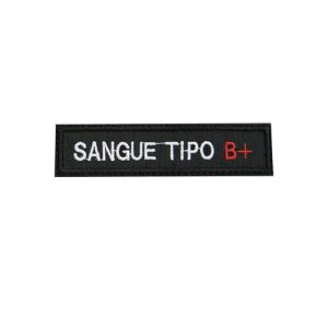 Patch Bordado Tipo Sanguíneo B+ 1.341.110V