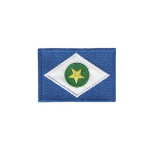 Patch Bordado Bandeira do Mato Grosso MT 1.341.79