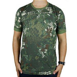Camiseta Masculina Soldier Camuflada Mandrak Bélica