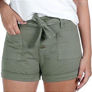 Shorts Feminino Sarja Verde Treme Terra