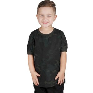 Camiseta Soldier Infantil Multi Black Bélica