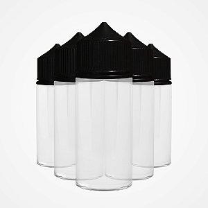 Kit Frascos 100ml - Clear/Black (5 unidades)
