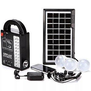 Painel Solar Com Kit De Emergência De Lâmpadas E Carregador