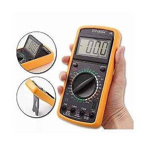 Multímetro Digital Capacímetro Sonoro Dígito Grande Dt9205a