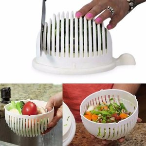 Salad Cutter Bowl Sua Salada Rápida e Fácil Alimentação Saudável