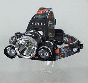Lanterna Cabeça Triplo T6 Led Cree Profissional Swat Tática