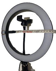 Ring Iluminador 26cm Grande Kit Youtuber Com Tripé 1,22m