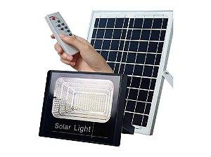 Holofote Refletor Solar 70w Ip67 Energia Solar Kit Completo