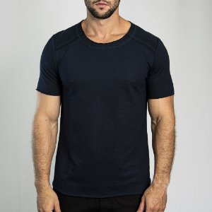 Camiseta Moletinho Inverted Marinho - SOHO