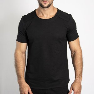 Camiseta Moletinho Inverted Preta - SOHO