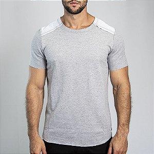 Camiseta Moletinho Inverted Mescla Clara - SOHO