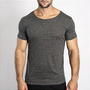 Camiseta Corte a Fio Bonete Preta - SOHO