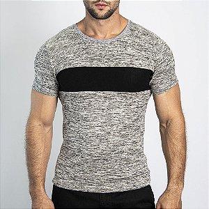 Camiseta Manga Curta Grecia Maquinetado Marfim - SOHO