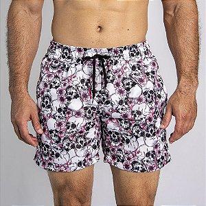 Shorts D'Água Skull Flowers - SOHO