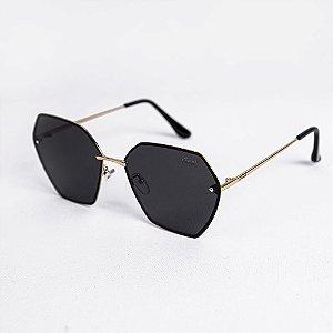 Óculos de Sol Feminino Hexagonal Lente Fumê - Sowt