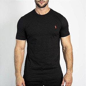 Camiseta Custom Fit Preta - Ralph Lauren