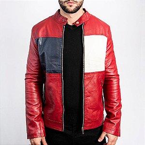Jaqueta Biker New York Vermelha - Dual