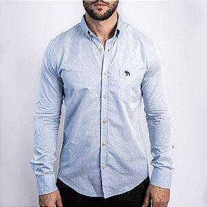 Camisa Azul Custom Fit - Abercrombie
